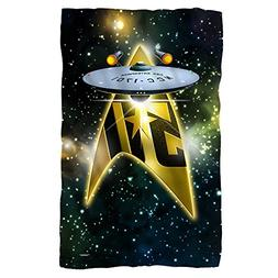Starship -- Star Trek 50th Anniversary -- Fleece Throw Blank