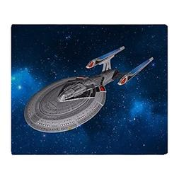 CafePress StarTrek 1701E Starry Space Soft Fleece Throw Blan