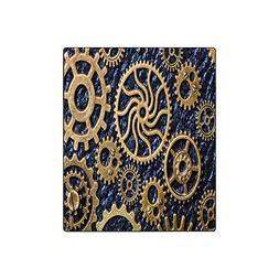 InterestPrint Steampunk Mechanical Cogs Gears Wheels Fleece