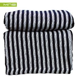 striped king cotton throw blanket