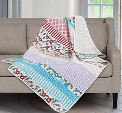 SLPR Summer Festival Printed Quilted Throw Blanket  | Home C