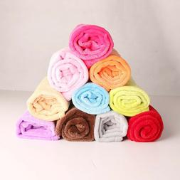 summer soft warm micro plush fleece throw