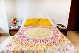 Sunflower Tapestry Mandala Bedding with Pillow Covers, India
