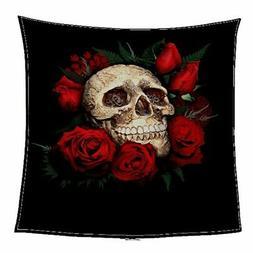 Super Soft Blanket Floral Skull Sofa Blanket Comfortable Hom