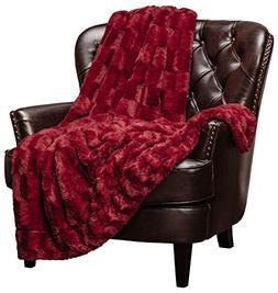 Chanasya Super Soft Cozy Sherpa Fuzzy Fur Warm Maroon Red Th