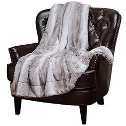 Chanasya Super Soft Fuzzy Fur Elegant Throw Blanket   Faux F