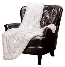 Chanasya Super Soft Fuzzy Faux Fur Elegant Rectangular Embos