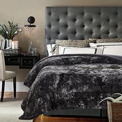 Bed Blanket Faux Fur Caramel Micro Mink Plush Luxurious King