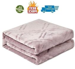 Super Soft Lightweight Flannel Fleece Throw Blanket Microfib