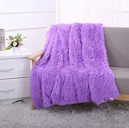 YOUSA Super Soft Long Shaggy Fuzzy Fur Faux Fur Warm Elegant