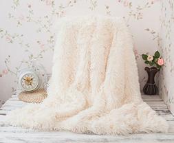 Soffte Cloud Super Soft Long Shaggy Warm Plush Fannel Blanke