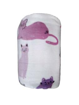 super soft oversized plush throw blanket cats