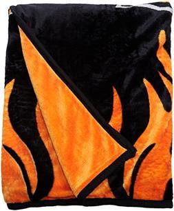 Super Soft Plush Classic Black Harley Davidson Blanket/Throw