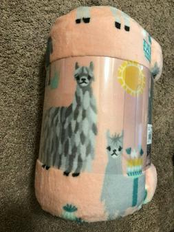 The Big One super soft plush throw blanket 5ft x 6ft llamas
