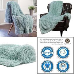 Chanasya Super Soft Shaggy Chick Longfur Throw Blanket - Snu