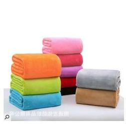 Super Soft Solid Warm Micro Plush Fleece Blanket Throw Rug S