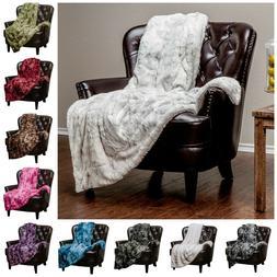 Super Soft Throw Blanket Faux Fur Plush Fuzzy Throws Bedding
