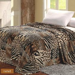 Super Soft Warm Throw Safari Printed Flannel Modern Blanket