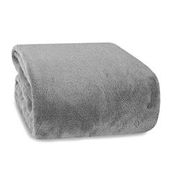Berkshire Blanket Supremely Serasoft Plush Throw, Ash