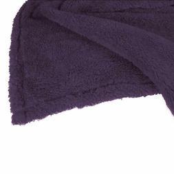 Berkshire Blanket Supremely Serasoft Plush Throw Plum