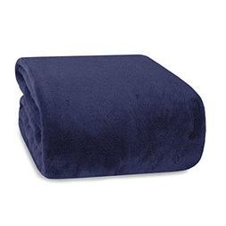 Berkshire Blanket Supremely Serasoft Plush Throw, Midnight B