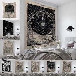 Tapestry Wall Hanging Tarot Card Pattern Blanket Carpet Thro
