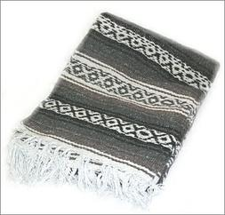 Taupe / Gray Mexican Blanket