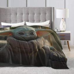 The Mandalorian Baby Yoda Throw Fleece Blanket