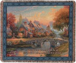 Manual Thomas Kinkade 50 x 60-Inch Tapestry Throw with Prove