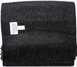 100% Baby Alpaca Throw Blankets - Solid Color Broad Selectio