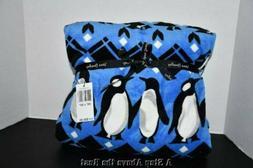 Vera Bradley Throw Blanket 12408-Q37 Penguin Intarsia Blue 8