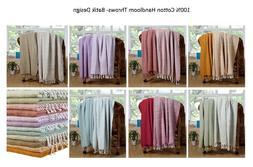 Throw Blanket  100% Luxurious Cotton Batic Excel Hometex