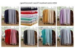 Throw Blanket  100% Luxurious Cotton Chevron Excel Hometex