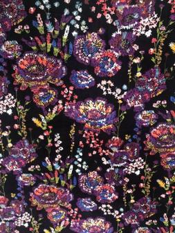 Vera Bradley THROW BLANKET - 80 x 50  Vibrant MIDNIGHT WILDF