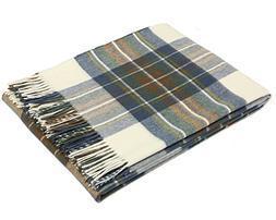 Bronte Throw Blanket - Tartan Throw - Merino Lambswool