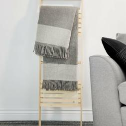 Throw Blanket 50 x 60 100% Australian Lambs Wool Gray
