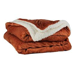 Throw Blanket - Micro Mink and Lambswool Sherpa