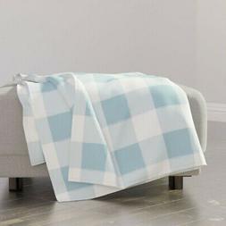 Throw Blanket Buffalo Plaid Buffalo Check Blue Plaid Blue Gi