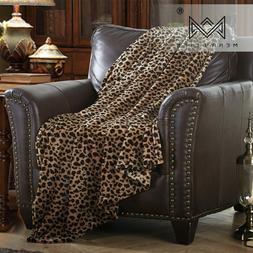 Merrylife Throw Blanket Cheetah Zebra Leopard Fauna Primitiv