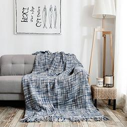 HollyHOME Throw Blanket Chic Boho 60x70 Inch Luxury Soft Mic