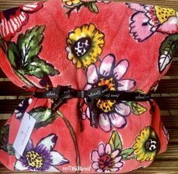 Vera Bradley Throw Blanket CORAL FLORAL Brand NEW Spring 201