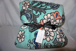 """Vera Bradley Throw Blanket Fan Flowers 50"""" x 80"""""""
