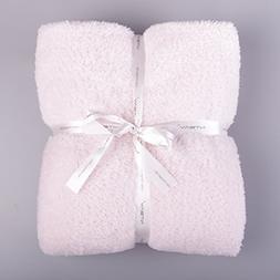 """NTBAY Throw Blanket Fluffy Flannel Super Soft Warm, 51""""x 67"""""""