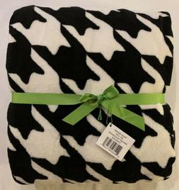 Vera Bradley Throw Blanket Fleece Midnight Houndstooth Patte