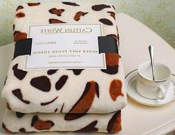 Caitlin White Throw Blanket for Couch/Sofa/Bed, Luxury Super