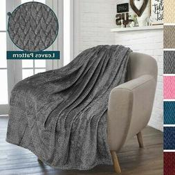 Throw Blanket for Sofa Couch Bed Decorative Lightweight Micr