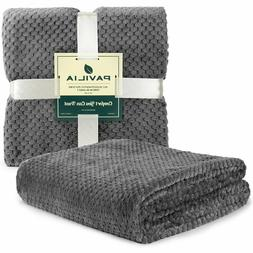 Throw Blanket for Sofa Couch Bed Lightweight Microfiber Poly