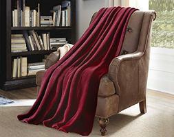 "JML Plush Throw Blanket 50"" x 60"", Plush Soft Fleece Blanket"