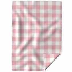 Throw Blanket Large Buffalo Check Picnic Large Gingham Pink