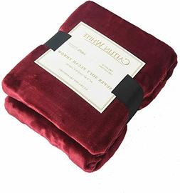 Caitlin White Throw Blanket Luxury Super Soft Microplush Vel